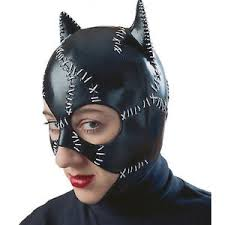 Latex Halloween Costumes Catwoman Replica Costume Vintage Latex Mask Cat Woman Rubies