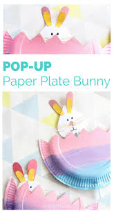 arty crafty kids craft easter pop up paper plate bunny a