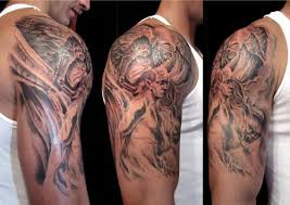 amazing taurus tattoo on biceps for guys photo 2 2017 real