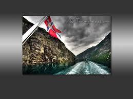 Norweigan Flag Free Computer Desktop Wallpaper Norwegian Flag On The