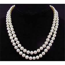 pearl necklace pictures images White pearl necklace jpg