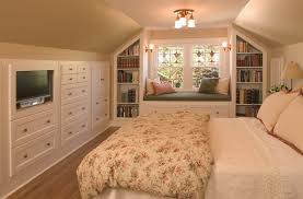 Rose Cabinets Traditional Guest Bedroom With Built In Bookshelf By Chris Riddle