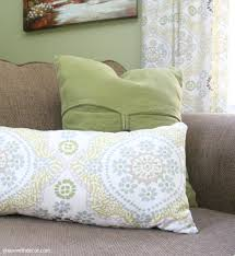 green with decor how to make a throw pillow from extra fabric