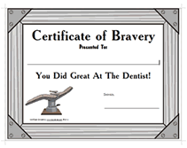 free printable dentist award certificate templates