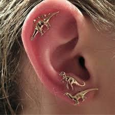 dinosaur earrings 2016hot selling animal dinosaur metal stud earring 3d dinosaur