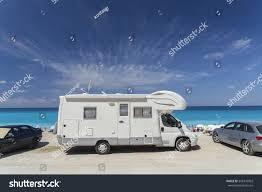caravan sea summer holidays travel stock photo 343370903