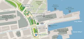 Boston Parking Map by Greenway Carousel