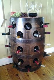 bourb how to make a whiskey barrel wine rack whiskey barrel wine