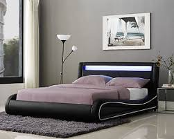 Size Double Bed Led Double Bed Frame Or King Size Faux Leather Bed Led Headboard