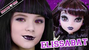 Bat Face Makeup Halloween by Monster High Elissabat Doll Makeup Tutorial For Halloween Or