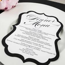28 black and white menu wedding menu cards zazzle search black and white menu black and white wedding menu cards too chic amp little