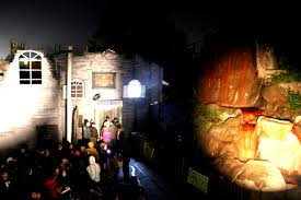 the chamber of souls haunted house at wild waves theme park during