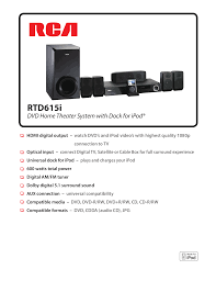 rca dvd home theater system troubleshooting download free pdf for rca rtd615i home theater manual