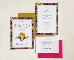 Love Bird Wedding Invitations Tropical Love Birds Wedding Invitation Charm Tree