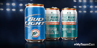 bud light in the can miami dolphins on twitter our budlight super bowl series cans