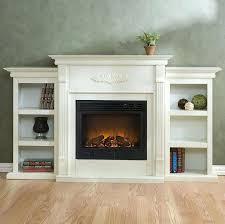White Electric Fireplace Bookcase 1 Tennyson Electric Fireplace With Bookcases Bookshelf