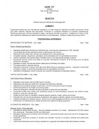 Resume Object Examples by Resume Objective Examples Entry Level Warehouse Augustais