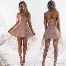 light pink short dress cute pale pink short homecoming dresses high low lace a line