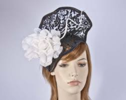 lace fascinator black white lace fascinator for melbourne cup derby races buy