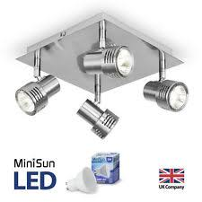 Ceiling Spot Light Fittings Modern Brushed Chrome Square 4 Way Led Gu10 Ceiling Spotlight Spot