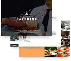 brochure catering brochure templates