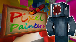 painters minecraft hypixel pixel painters new mini game youtube
