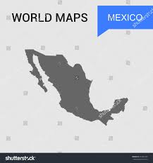 Mexico Country Map by Mexico Map Vector Country Border Map Stock Vector 414642286