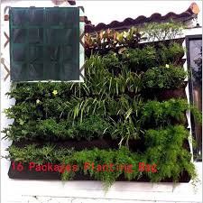 hanging wall pot with 16 pages specical planting bag plant pots