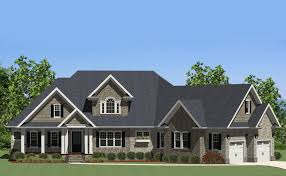 Angled Garage House Plans by Handsome Craftsman Home With Angled Garage 46224la