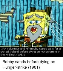 Ira Meme - ira volunteer and mp bobby sands calls for a united ireland before