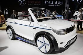 electric utility vehicles chinese tech firms charge into electric cars wsj