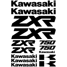 logo kawasaki wallstickers folies kawasaki zxr 750 decal stickers kit