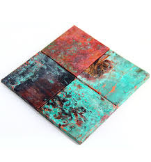 reserved listing 80 6x6in tiles real copper accent tiles