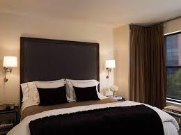 tall black headboard contemporary bedroom candace cavanaugh