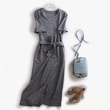 2017 fall new casual women dresses western style o neck short sleeve d
