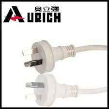 china australia plug 3 flat pin power cord with connector