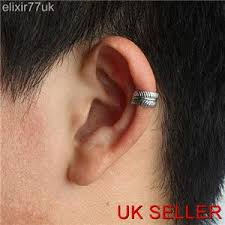 cartilage cuff earrings silver curved leaf ear cuff helix cartilage clip on earring