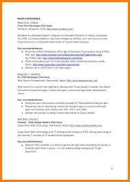 front end developer resume sample jim bennett front end developer