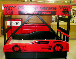 Kid Car Bed Bedroom Unique Race Car Bed And Full Size Mattress Connected By