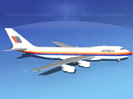 United Airline Stock Boeing 747 100 United Airlines 2 3d Cgtrader
