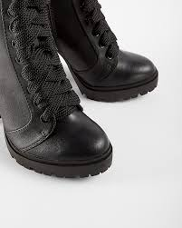 lace up motorcycle boots lace up heeled lug booties express