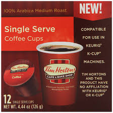 tim horton u0027s single serve coffee cups original blend 12 count