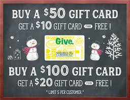 gift cards sale starts tomorrow gift card sale nature s corner