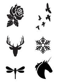 mini black temporary set tatt me temporary tattoos