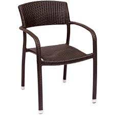 Stackable Wicker Patio Chairs Bfm Seating Ph511cjv Regis Java Stackable Outdoor Indoor