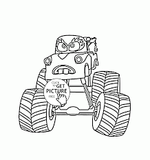 mater monster truck cars coloring page for kids transportation
