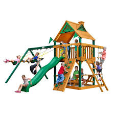 Playsets Outdoor Gorilla Playsets Chateau With Timber Shield Cedar Playset 01 0003