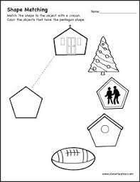 shape matching activity worksheet for preschool shapes and