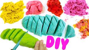 diy kinetic sand easy diy sensory toys for kids youtube