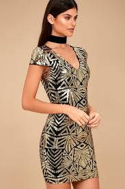 black and gold dress black and gold dress sequin bodycon dress